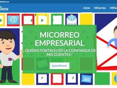 Sitio Web para ofrecer servicios