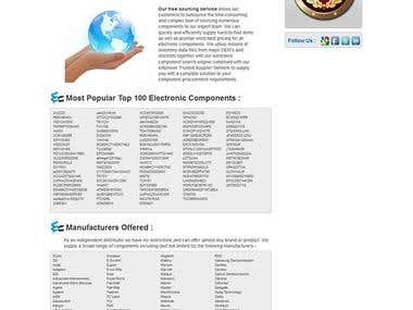 Electronic parts search website
