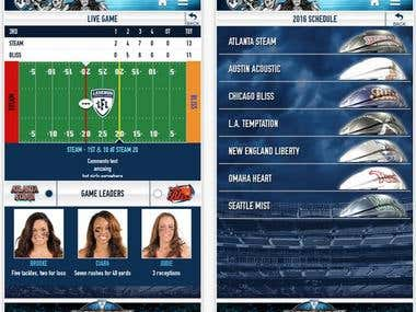 Legends Football League-Mobile Development-iPhone-iPad