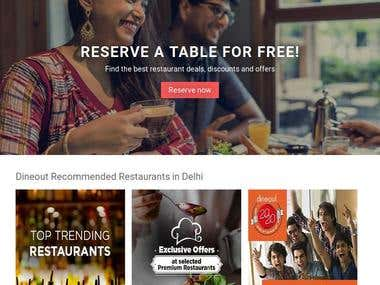 Dineout - Restaurant table reserve (Website)