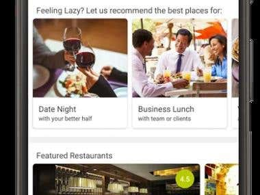 Android App - Restaurant table booking