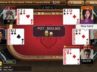 Showhand Online Poker (iPhone/iPad Game)