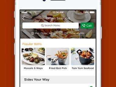 Iphone / Ipad app for online food order