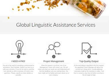 Cuisine Translation's webpage