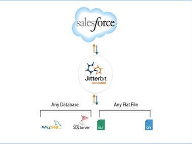 Salesforce integration using Data integration tools