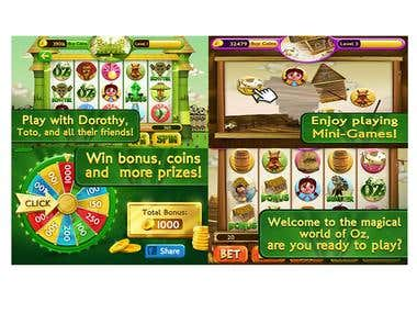 Slots Wizard of Oz(Slot Game, cocos2d-x,Object-C)