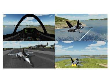 F18 Airplane Simulator 3D (Flight Simulation Unity 3D , C#)