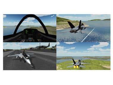 F18 Airplane Simulator 3D (Flight Simulation Unity 3D , C#)
