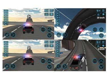 Police Car Driving Sim (Driving Simulation Game,Unity3D)