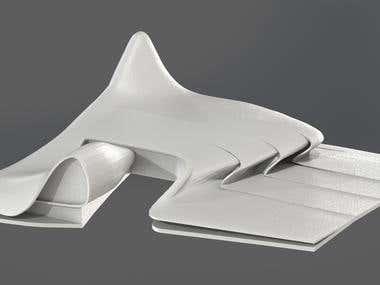 3d modelling of the Heydar Aliyev Center for 3d printing