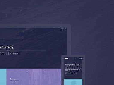 Image sharing platform - Forty