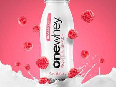 Advertising . Fitnessguru Protein Shake