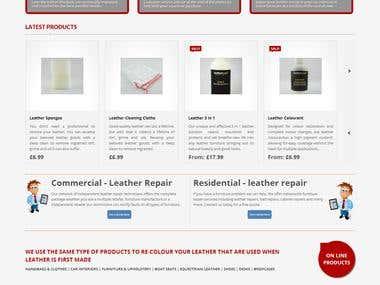 Ecommerce website- lovemylether