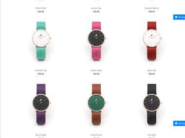 Project for online Watch Designing, you can design