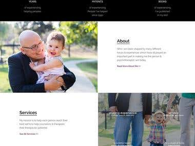 Abphd PSD to WordPress template built on StoreFront theme