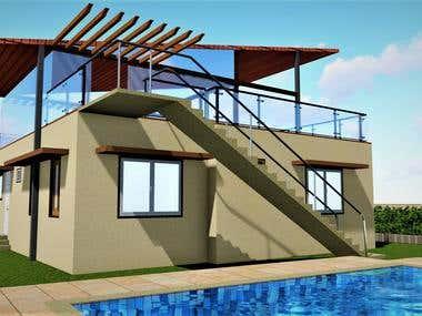 Farm house concept render