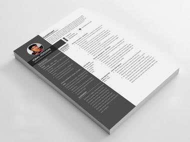 Professional Cv design MS word, AI PSD