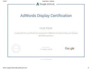Google Display Exam Certification
