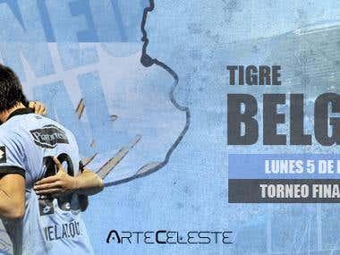 Advertisement football match, Tigre vs Belgrano, year 2014
