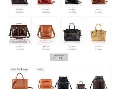 Allora Leathers Ecommerce Website