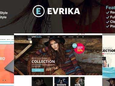 EvrikaFashion PSD HTML and PRESTASHOP ECOMMERCE THEME