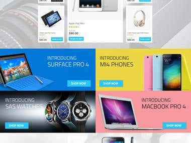SAS ELECTRONICS AND LAPTOP THEME HTML and PRESTAHOP