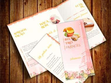 Folder Bistrô Francês