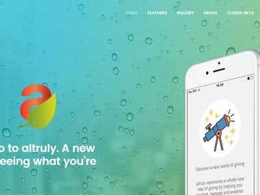 App site - http://www.altruly.net/
