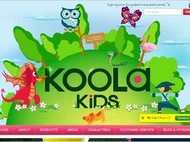 ecommerce website http://www.koolakids.com/
