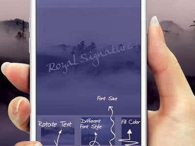 Royal Signature IOS App