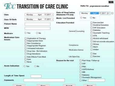 Database management application , CSV to Excel file