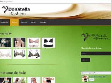 Donatella Fashion - website design