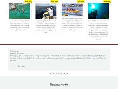 Beach Break Tour WP website for local tour operator in Cozum