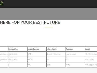 CV Managment Website
