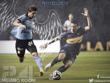 Project of edition, for the player of soccer Emiliano Rigoni