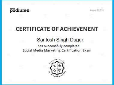 Social Media Certification by HootSuite