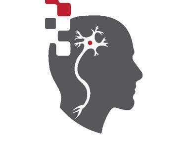 Logo design for a research center.