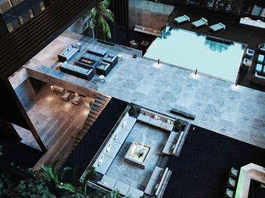 A VILLA DESIGNED BY STUDIO FIVE. LOCATION: CAIRO, EGPYT