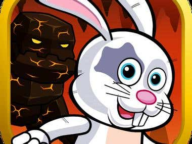 """""""Hot Bunny Run"""" graphic design and animations (2017)"""