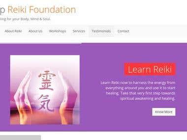 Tulip Reiki Foundation Website - Ruby on Rails