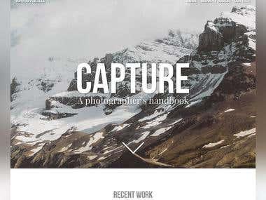 Photographer's Portfolio Website Mockup