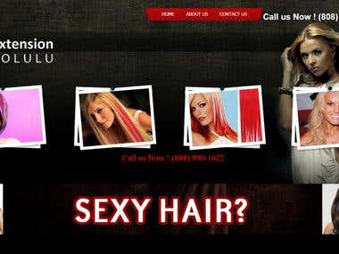 Hair Extension Website