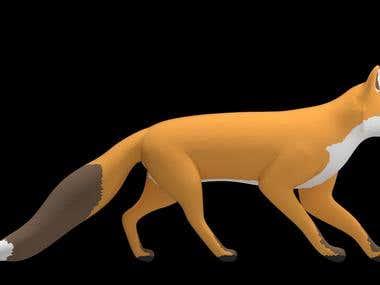 3D model Fox