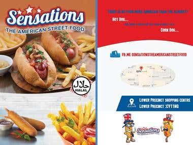 2-Sided Restaurant Flyer Design