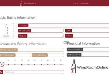Website Design for WineRoomOnline