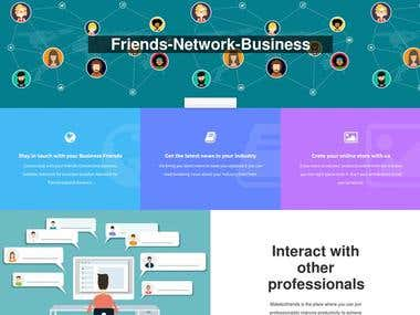 Make Biz Friends - Social Network Website