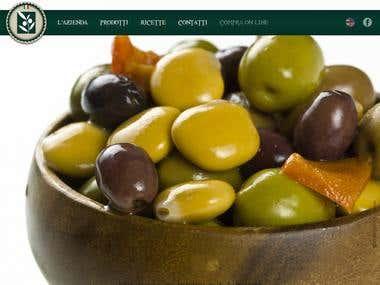 Website for olives production