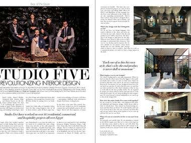 PRESS ARTICLE ABOUT STUDIO FIVE