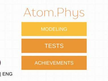 Mobile application Atom.Phys