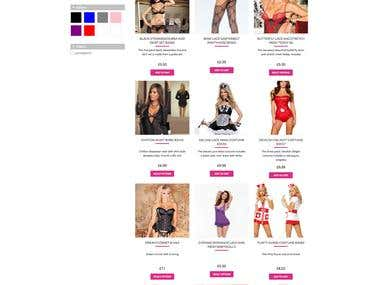 Wordpress Development for a lingerie and sex toys Store